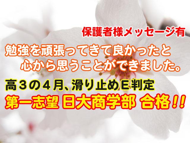 日本大学商学部・合格体験記